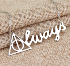 Sterling Silver Harry Potter Death Hallows Always Choker Necklace - $62.00