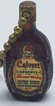 Old Vtg Calvert Reserve Blended Whiskey Bottle Key Chain Charm - $25.95