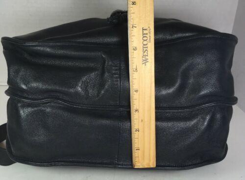 Brio Vintage Large Soft Blue Leather Multi Pocket Shoulder Bag