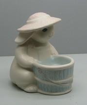 Pfaltzgraff Tea Rose Bunny w Basket Candle Holder PERENNIALS - $5.93