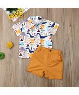 NWT Dinosaur Boys Short Sleeve Button Shirt & Shorts Outfit Set 2T 3T 4T 5T - $10.99
