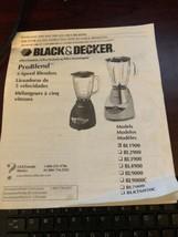 Black & Decker Model BL 1900 Instruction Book - $3.00
