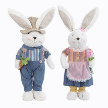 Darice Easter Plush Standing Bunny Decor: 34 inches, 2 Assorted Boy Girl w - $55.99