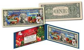 CHRISTMAS SANTA XMAS Dual Overlay *Silver Hologram & Polychrome* Genuine... - $12.16