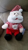 "Santa W Santa Pajamas Brand New Plush Stuffed Animal w/ Tags 13"" Sugar Loaf - $14.99"