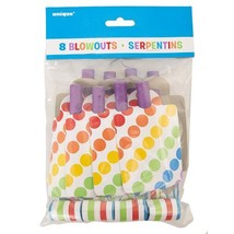 Rainbow Party Blowers, 8ct - $5.46