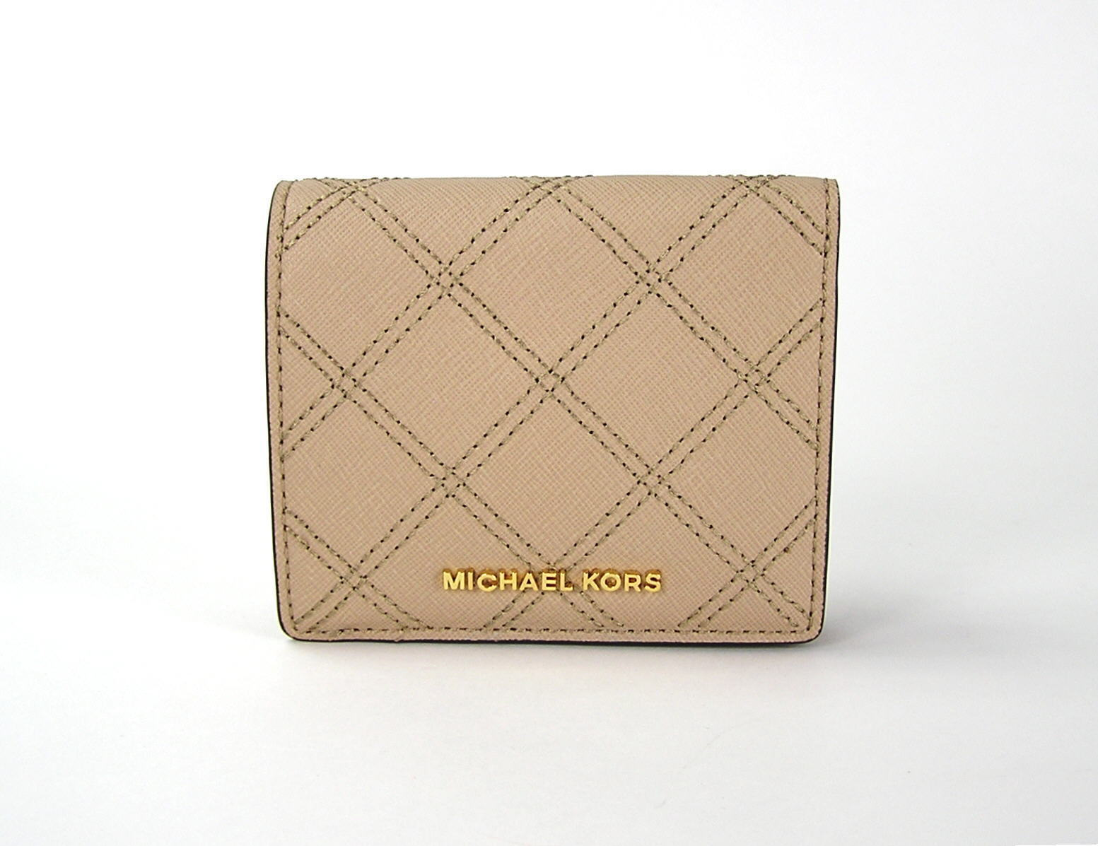 d63d4944a5da S l1600. S l1600. Previous. Michael Kors Jet Set Travel Medium Leather  Carryall Card Case Wallet Bisque NWT