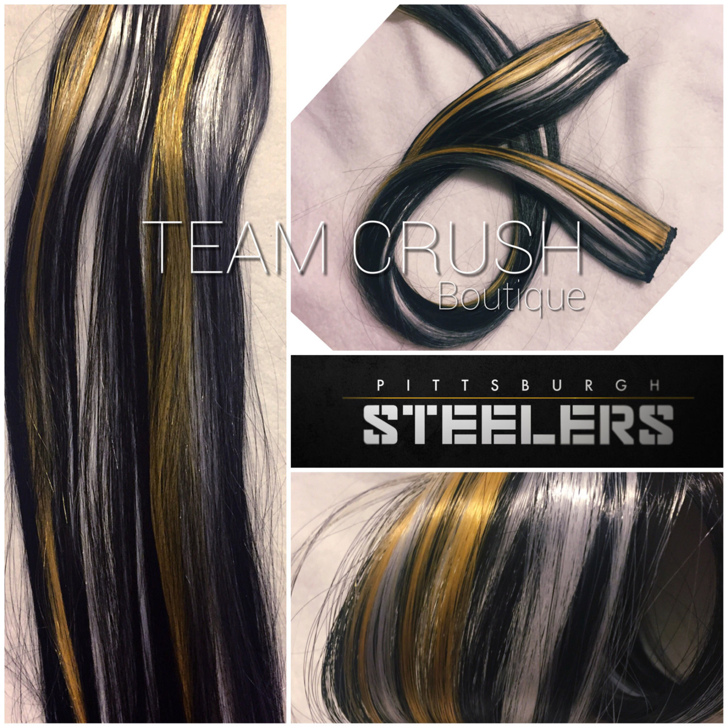 Pittsburgh Steelers 18 Clip In Hair And 50 Similar Items