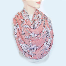 New STEVE MADDEN Pleated Floral Oversize Scarf Women's Soft Shawl Wrap N... - €8,26 EUR