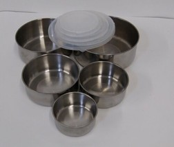 Grande Chef MB725 Stainless Steel Bowl Set 10 Piece Compact Storage image 2