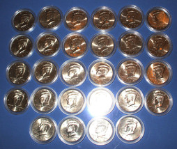 1997 To 2010 Uncirculated Kennedy Half Dollar 28 Coin Set - All P & D Coins - $79.95