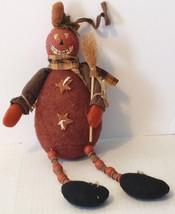 Country Primitive Pumpkin Dangle Legs Doll Figure Decoration - $11.87