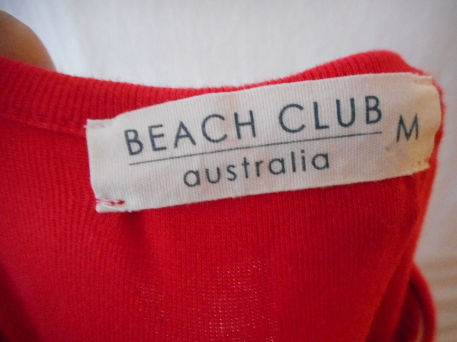 Beach Club Australia Knit top Striped Red White  Size M