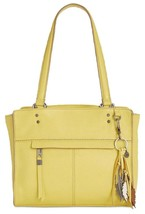 The Sak NWT $199 Alameda Small Satchel Sunlight Yellow Leather Tote Cros... - $49.49