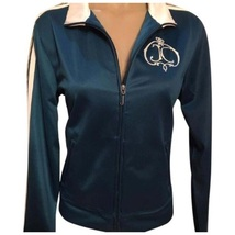 Juicy Couture Teal Blue athletic Long sleeve Jacket Large L NEW - $64.95
