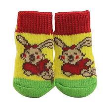 Black Temptation [Rabbit] 8 Pcs Lovely Knit Dog Socks Cat Socks Pet Knit... - £12.03 GBP