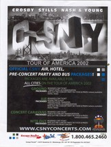 CSNY Tour Of America 2002 Toronto Flyer Pkgs Crosby Stills Nash & Young ... - $16.75