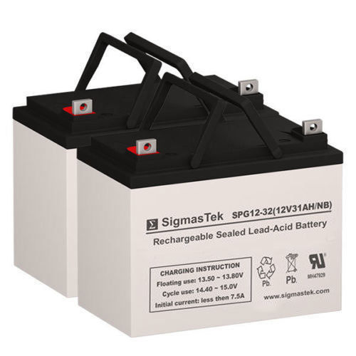 Primary image for Topaz 10500002 Replacement Battery Set By SigmasTek - GEL 12V 32AH NB