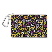 Cartoon Halloween Skulls Canvas Zip Pouch - $15.99+