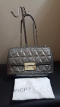 NWT Michael Michael Kors Large Chain Sloan Metallic Pewter Shoulder Bag Purse - $158.39
