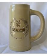 Vintage Heineken Beer Stein Mug Ceramarte Ceramic Made in Brazil - $13.99