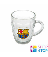 FC BARCELONA TANKARD BEER GLASS 1 PINT CLEAR OFFICIAL FOOTBALL SOCCER CL... - $22.36
