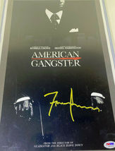 FRANK LUCAS / AUTOGRAPHED 11 X 17 AMERICAN GANGSTER MOVIE POSTER / PSA/DNA COA image 2