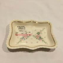 Petite Rose by Lenox Small Tray Trinket Dish New Old Stock - $19.79