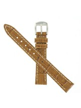 Hamilton 14/12mm Brown Crocodile Grain Ladies' Ardmore Watch Band H60011... - $118.80