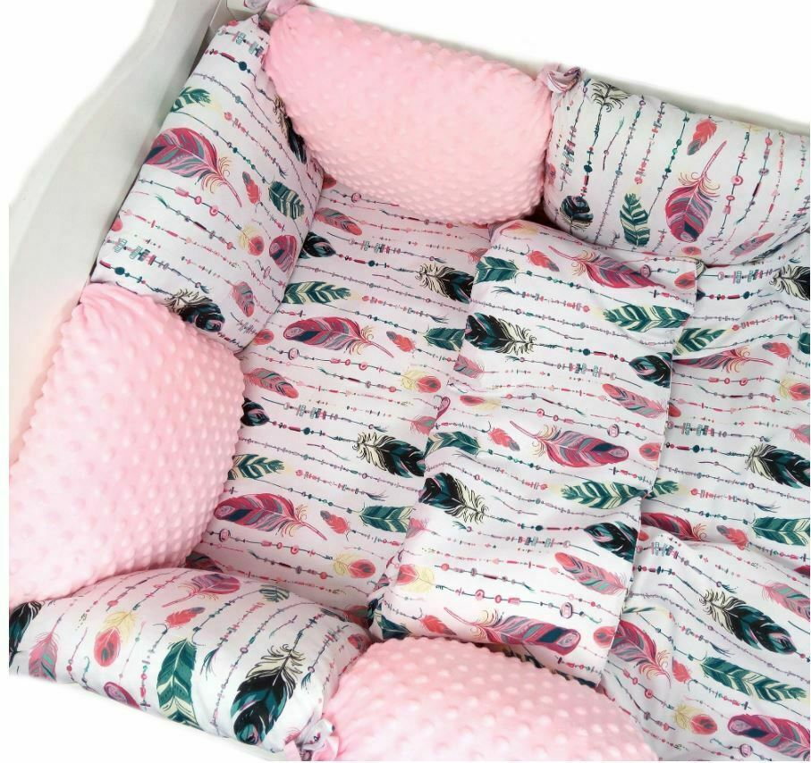 11pcs PILLOW BUMPER Toddler Bed Crib Bumpers Set of Bedding For Cot Bed Plumage  - $139.98