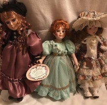 LOT Of 3 Porcelain Dolls Patricia Rose, Crown Angel Fairy - re - $21.14