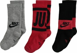 Nike Youth 3PK Performance Cushioned Crew Socks 5Y-7Y SX6839-952 - $22.99