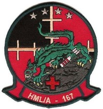 USMC HMLA-167 Light Attack Helicopter Squadron Patch - $11.87