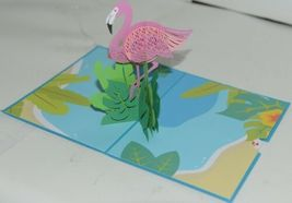 Lovepop LP1816 Flamingo Pop Up Card with White Envelope Package 1 image 3