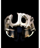 Sterling silver Letter ring F**k one word high polished 925 silver unise... - $65.00