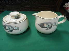 "Beautiful HOMER LAUGHLIN ""Rhythm"" ..SUGAR & CREAMER - $14.44"