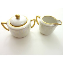 Vintage Made in Japan Iridescent Creamer Small Pitcher and Sugar Pot - $18.00