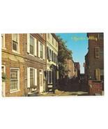 Philadelphia PA Historic Elfreths Allley Vintage Wm C Kramer Postcard - $3.50