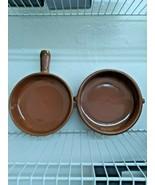 Authentic Cazuela dish Made in Spain Terracota Tapas Pots Set of 2 -W/HA... - $41.69