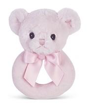 Bearington Baby Huggie Plush Stuffed Animal Pink Teddy Bear Soft Ring Ra... - $11.51