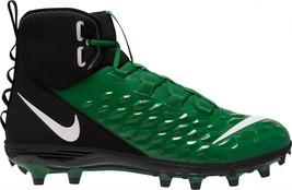 New Nike Men's Force Savage Varsity 2 Mid Football Cleats Size 15 GREEN/BLACK - $46.75