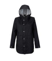 XL 16 Burton Women's Hooded Flare Rain Jacket Full Zip Packable Waterproof Shell