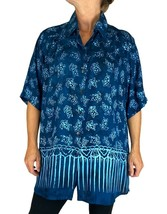 Batik Lighter-Weighted-Gauzy-Turtle-Bay-New Tunic Top - $64.00+