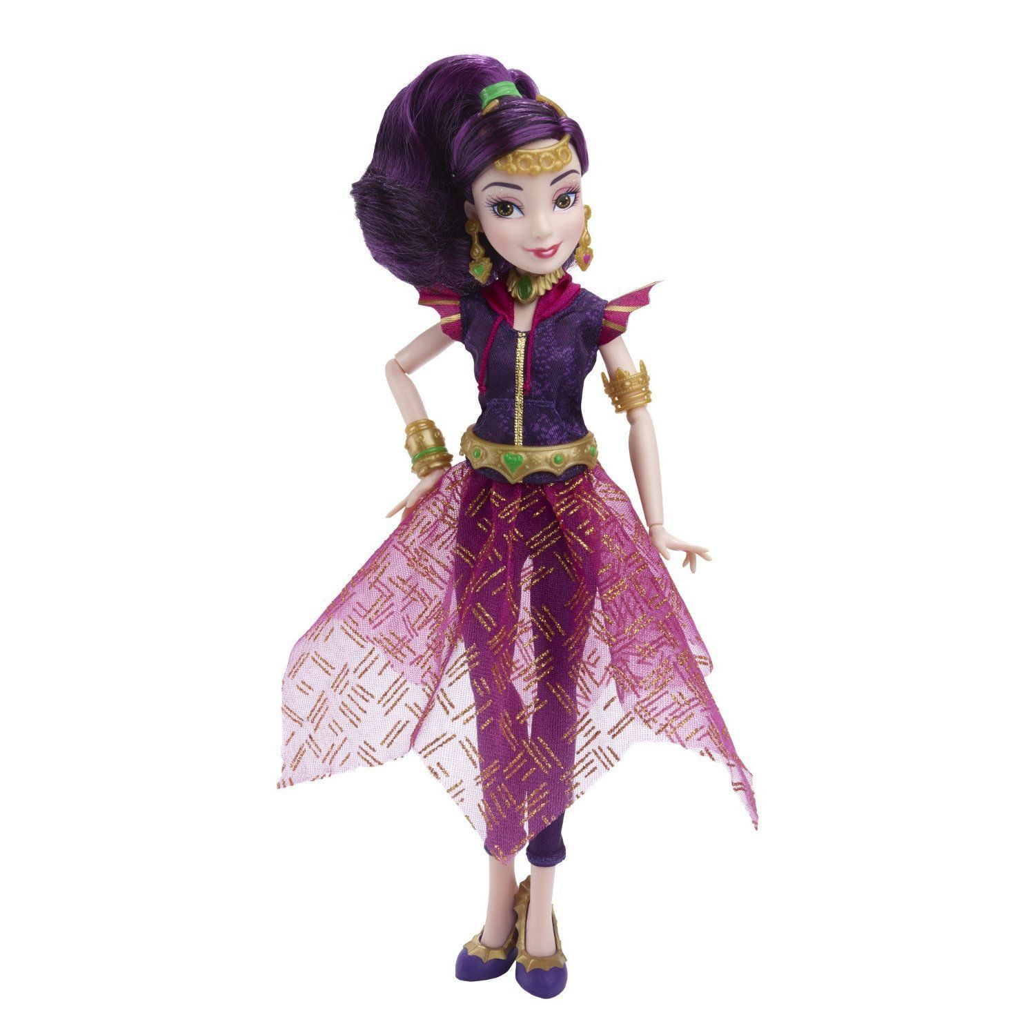 Disney Descendants Genie Chic Villain Mal Doll in Purple, Hasbro, 6+