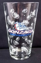 Gonzaga University Pint Beer Glass white bulldogs all over decals small ... - $7.80