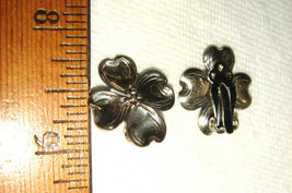 VTG 925 STERLING SILVER FLORAL DOGWOOD STIK PIN ADJUSTABLE RING CLIP EAR... - $197.99