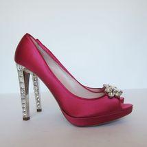 Marked 11 Pink Pumps Heels 1369145 Shoes Miu Miu US Size Prada New S 41 Crystal wqZ7XOw