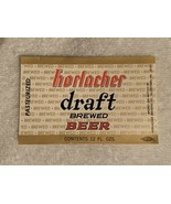 HORLACHER DRAFT BREWED  BEER LABEL  12 fl oz  Great condition!  See Pics!!! - $2.50