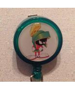 Marvin the Martian Badge Reel Id Holder Handmade alligator clip Green new - $8.99
