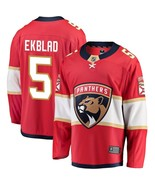 Men's Aaron Ekblad #5 Player Jersey Sewn on Florida Panthers 2018 Red New - $75.19